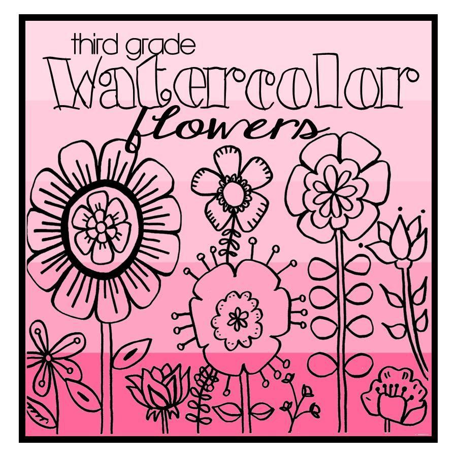 Watercolor flowers homeschool art pinterest watercolor