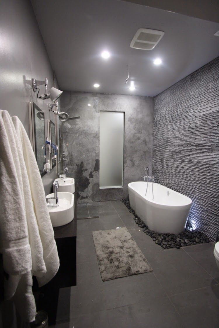 Cool And Sophisticated Designs For Gray Bathrooms Grey Bathrooms