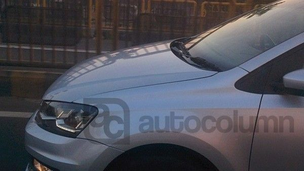 Volkswagen Vento Spotted And Gets New Led Headlamps Grille