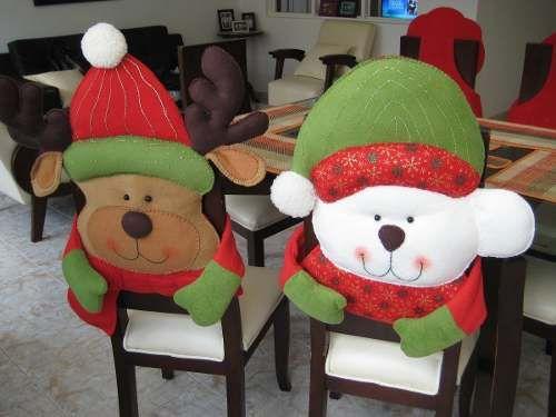 Cubre… Navideñas Sillas …Navidad Imagui Moldes De Nnm80w
