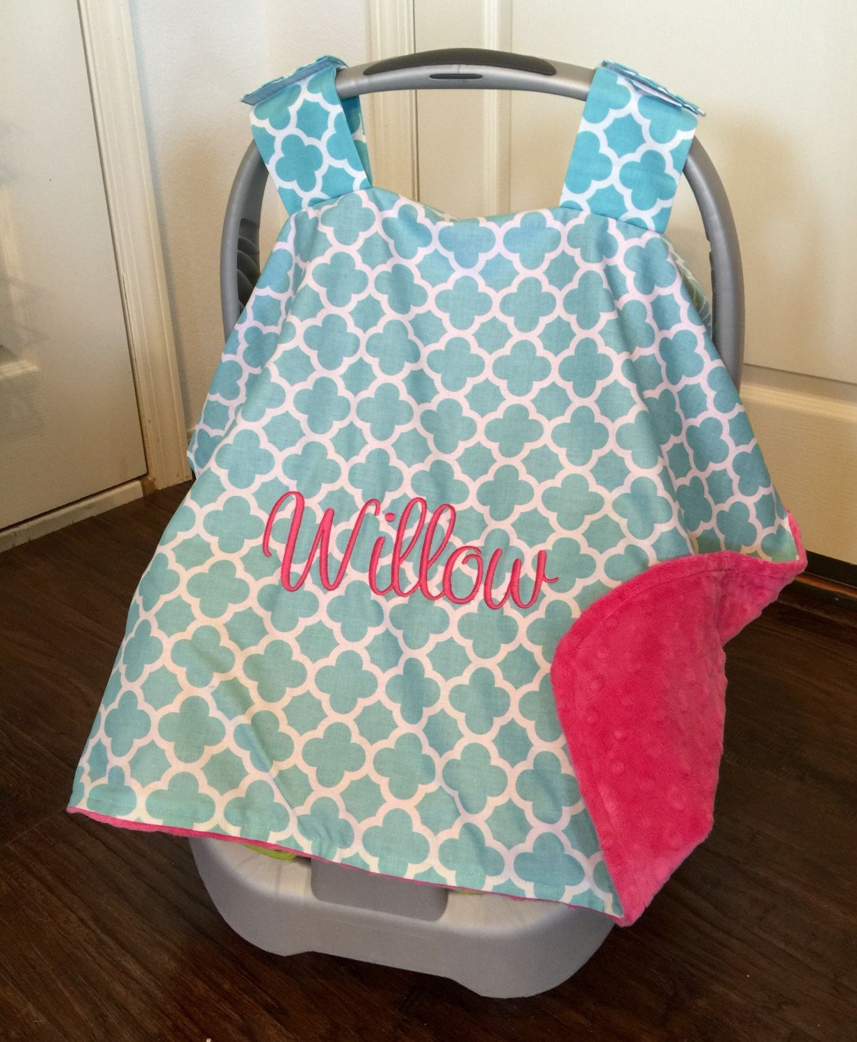 Monogram Carseat canopy, canopy for girls, car seat canopy ...