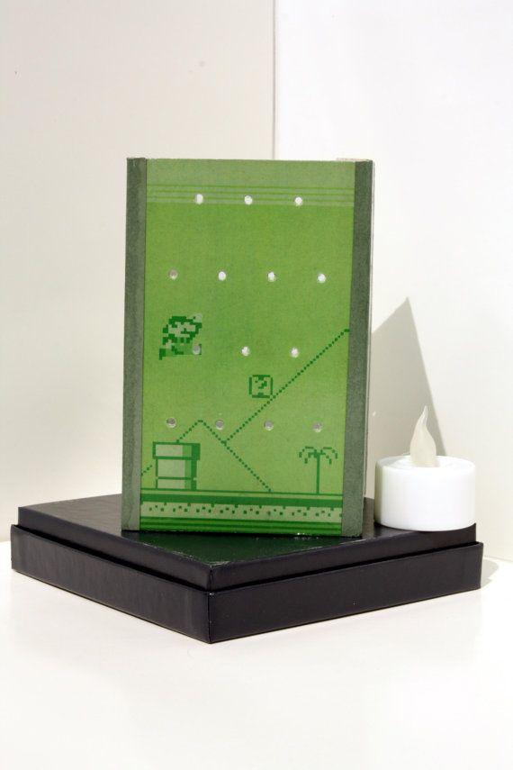 Super Mario Land Luminary 3x5 inch by NerDecor on Etsy, $18.00