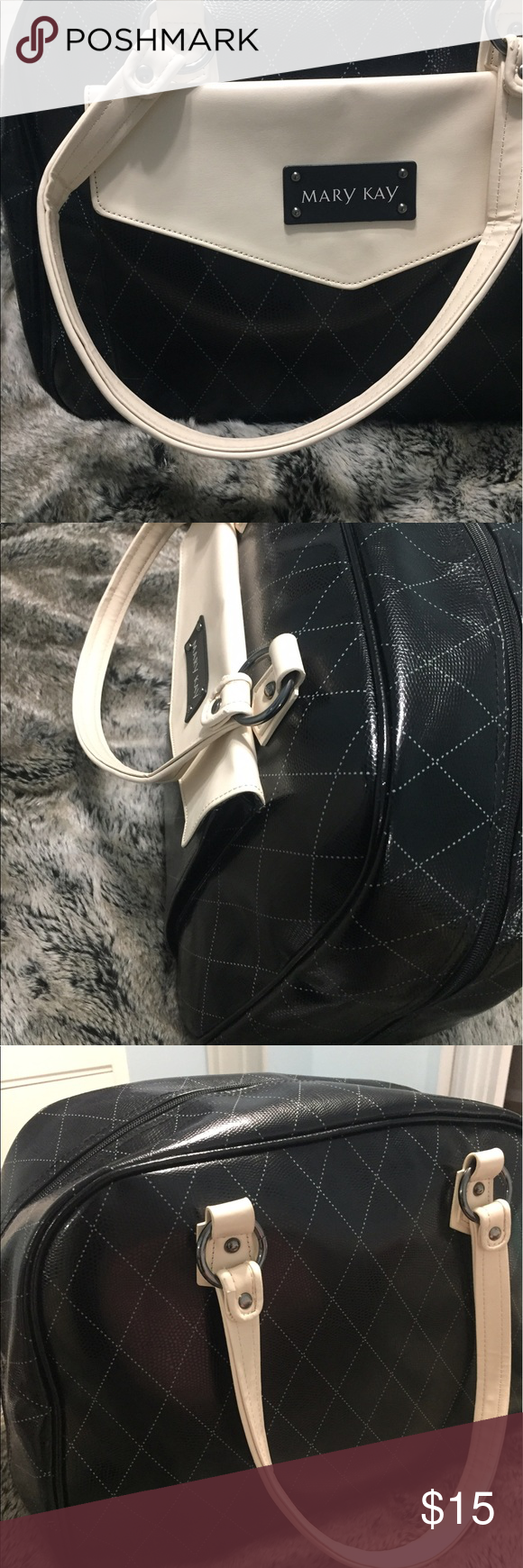 Mary Kay travel bag. Black with dotted line criss cross pattern. Lots of pockets and only used once. Great to travel with! Mary Kay Bags Travel Bags