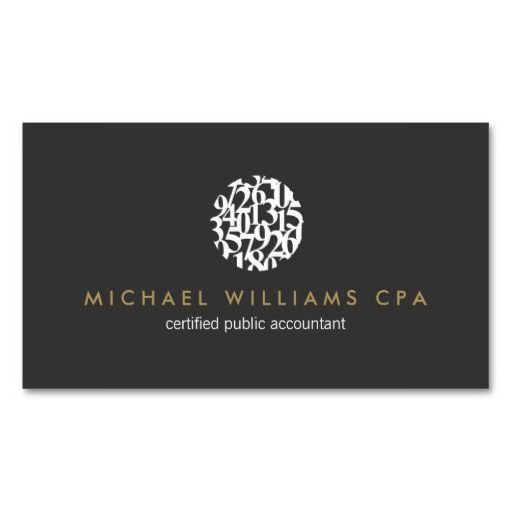 Modern accountant accounting business card where business starts modern accountant accounting business card template with unique numbers logo personalize the front and back with your own info accmission Choice Image