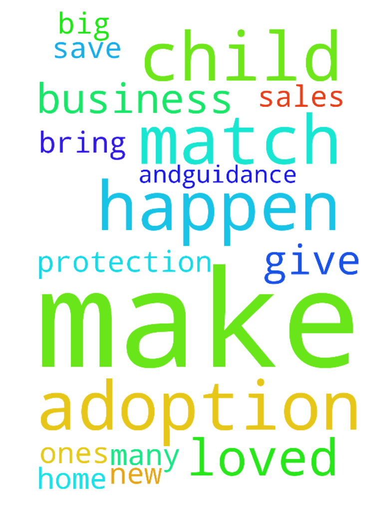 Match us with a child and make the adoption happen - Match us with a child and make the adoption happen give our business protection big and many sales, your help and�guidance bring us into a new home save our loved ones Posted at: https://prayerrequest.com/t/9ov #pray #prayer #request #prayerrequest