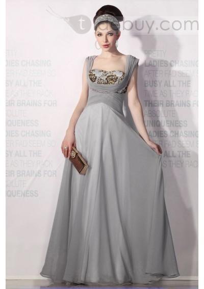Vestido para Eventos , largo al piso,silueta línea A y cintura de tipo natural (Envío Gratuito)