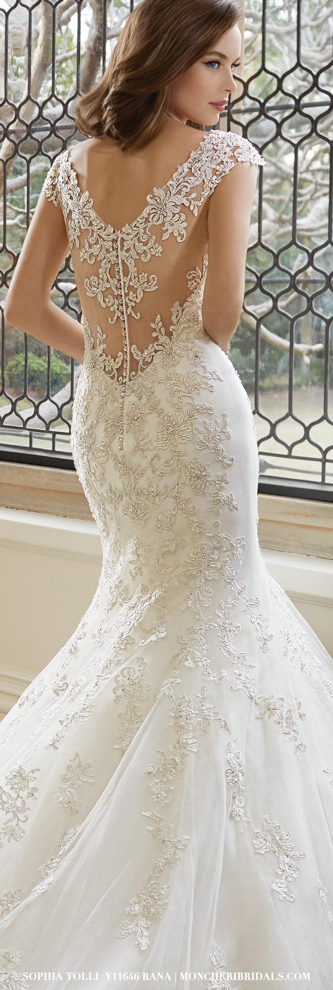 Back detail wedding dress  Y u Rana  Pinterest  Wedding dress Weddings and Wedding