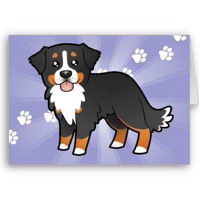 Cartoon Bernese Mountain Dog Zazzle Com Dog Cards Bernese
