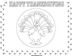 Turkey coloring placemat for thanksgiving gs service projects free printable turkey place mat coloring craft sheet to make thanksgiving placemats lap book pages or posters pronofoot35fo Images