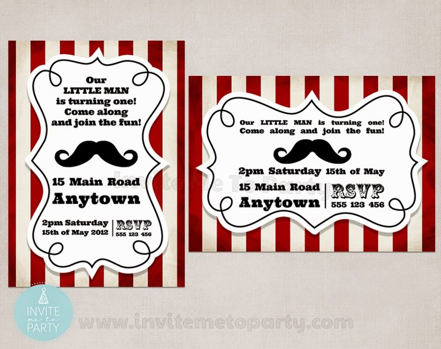Moustache Bash Party Invitation Invite Me To Party: Mustache Bash ...