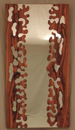 Formas espejo en madera de olivo madera de olivo talla for Espejos decorativos en madera