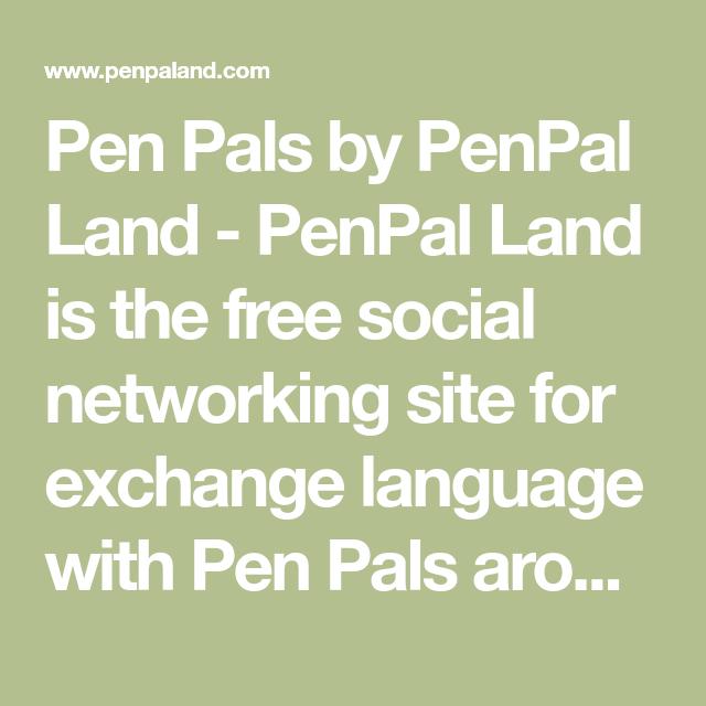 get a penpal for free