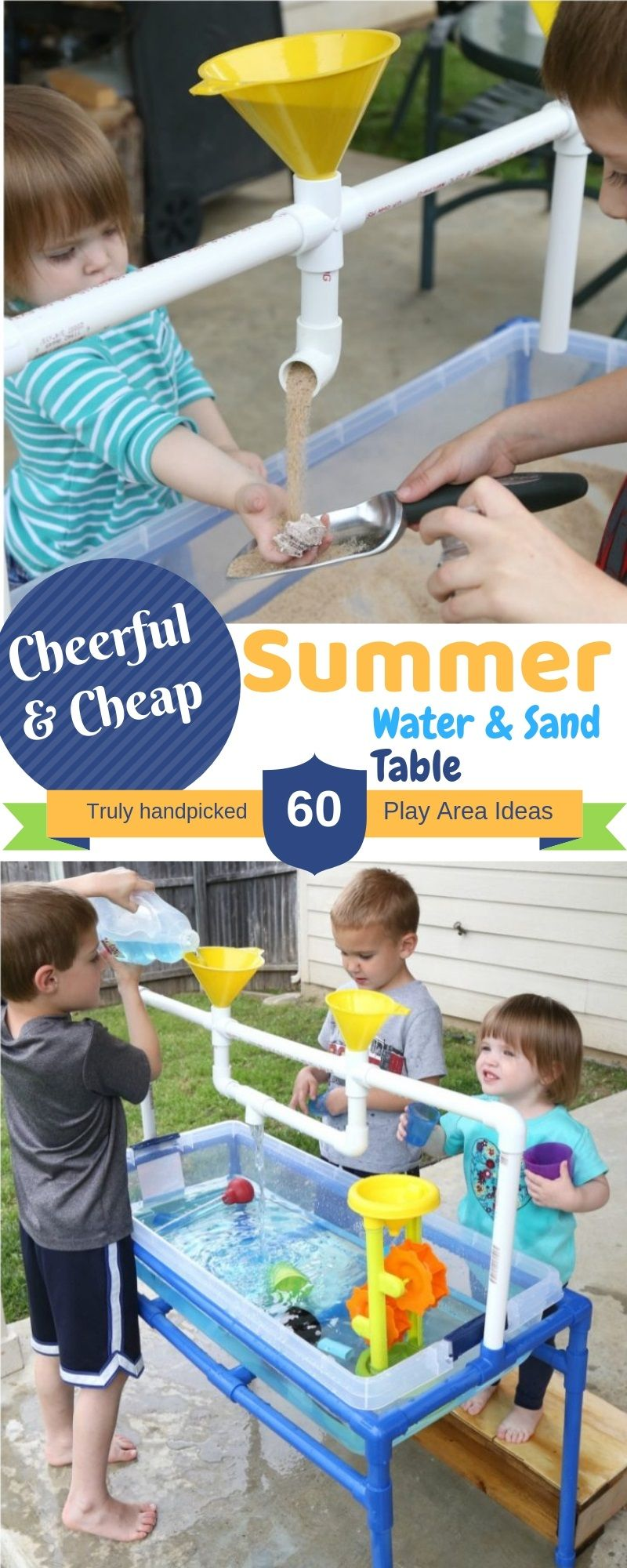 DIY Inexpensive Summer Water & Sand Table for Kids images