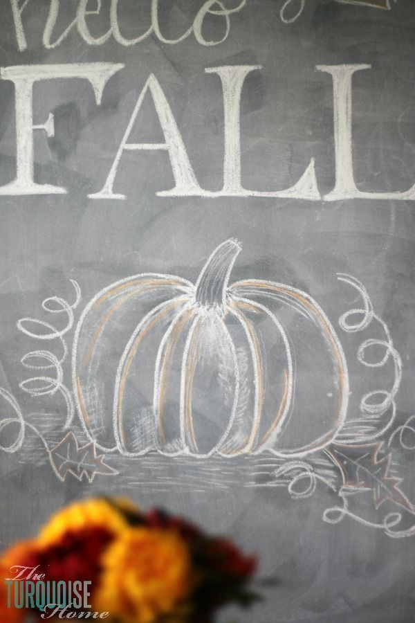 Hello Fall Chalkboard Art #hellofall
