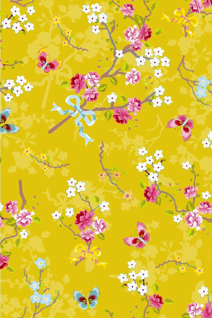 PiP Chinese Rose Yellow wallpaper. Potential lampshade ...