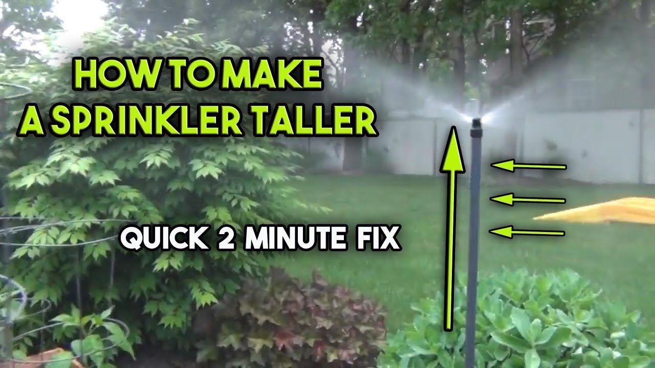 How To Raise A Sprinkler Head Sprinkler Heads Sprinkler Irrigation Supplies