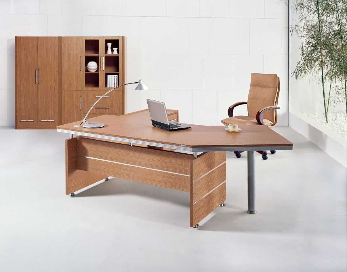 Desk Office Executive Brown Wood Office Table Desks Furniture Design Ideas For