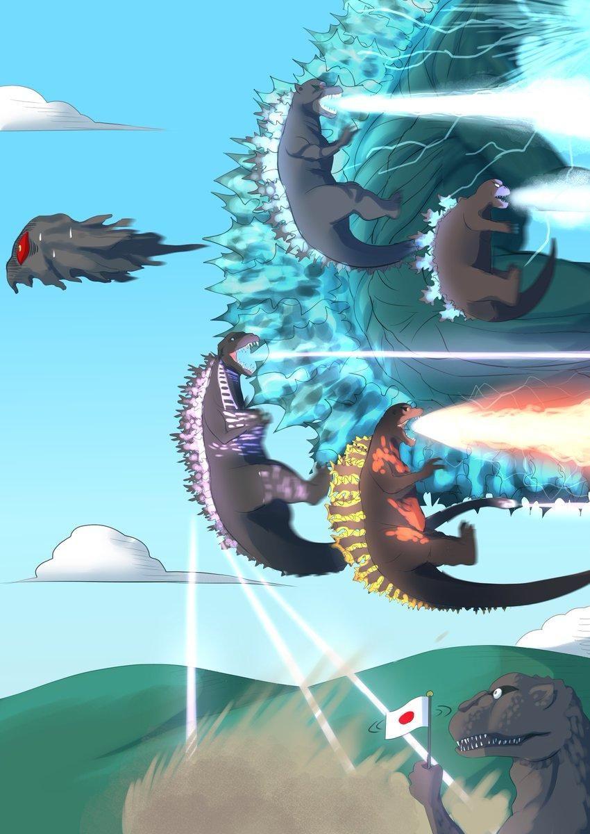 Flight of the Gojiras Godzilla, All godzilla monsters