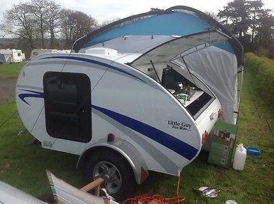 Little Guy 5 Ft Wide Teardrop Caravan Trailer With Large Awning