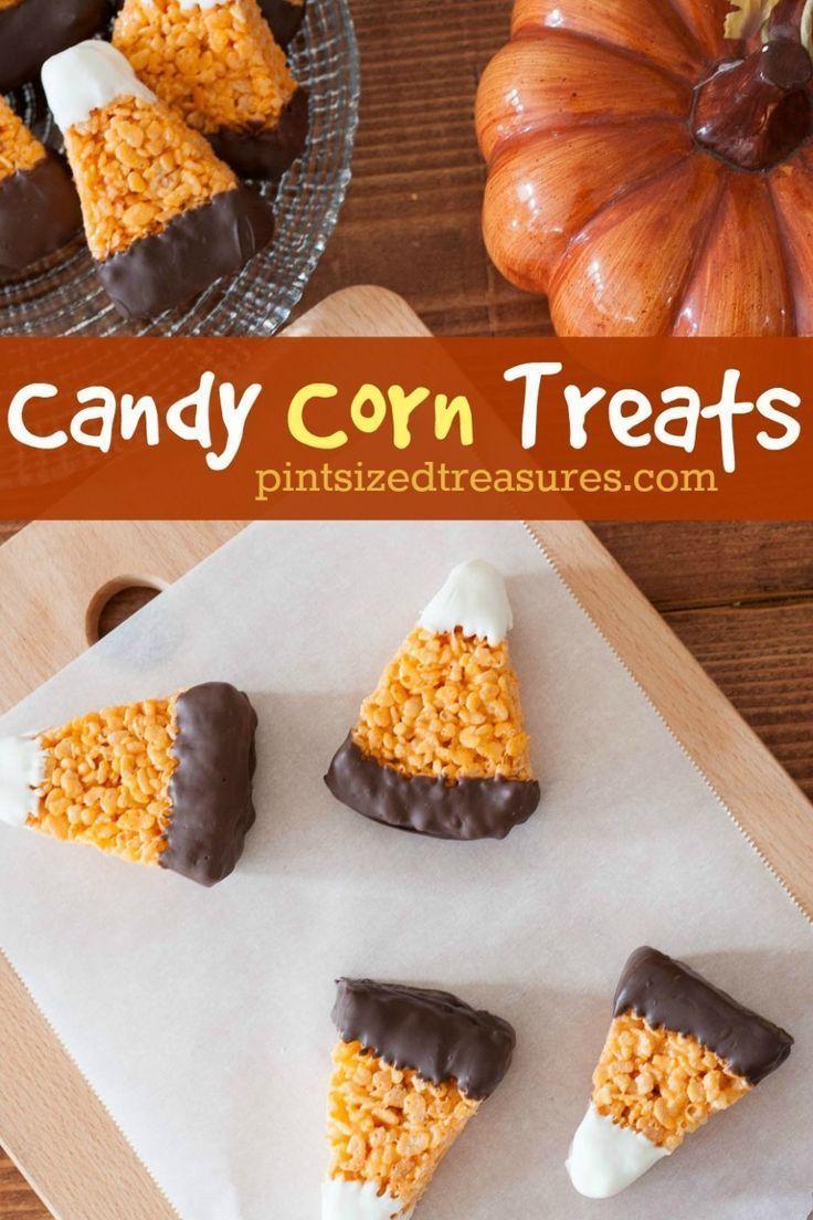 Schokolade getauchter Reis, knusprige Süßigkeiten und Maisleckerbissen machen im Herbst richtig Spaß! Reis kris ...   - Favorite Food Bloggers! -