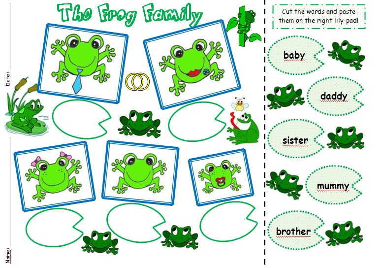 Number Names Worksheets kindergarten family worksheets Free – My Family Worksheets for Kindergarten