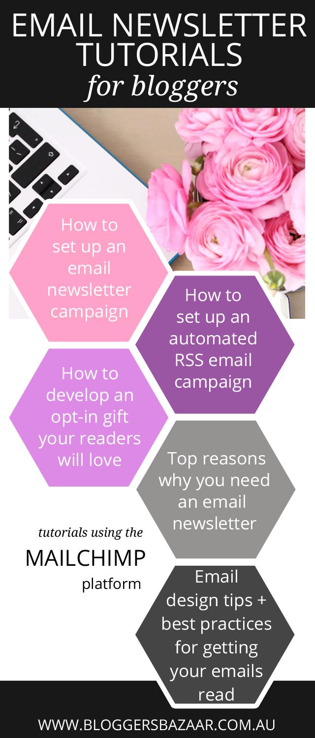 a roundup of very helpful email newsletter tutorials using mailchimp