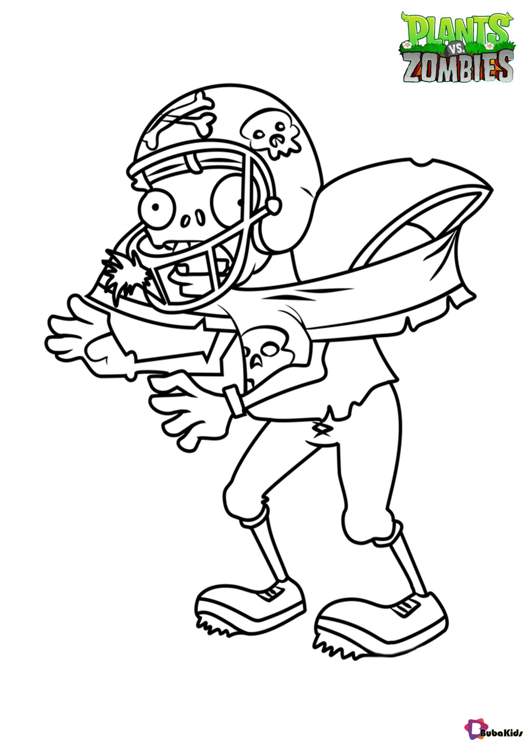 Plants Vs Zombies Football Zombie Coloring Page Collection Of Cartoon Coloring Pages For Teenage Print Cartoon Coloring Pages Coloring Pages Plants Vs Zombies [ 2560 x 1810 Pixel ]