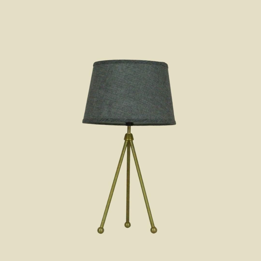 Minimalist Brass Tripod Accent Lamp