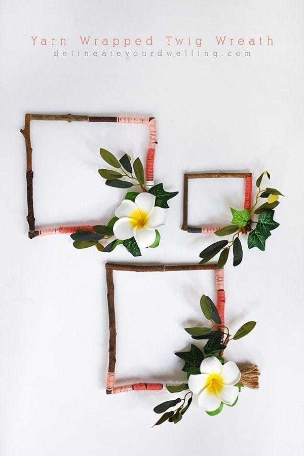Yarn Wrapped Twig Wreath