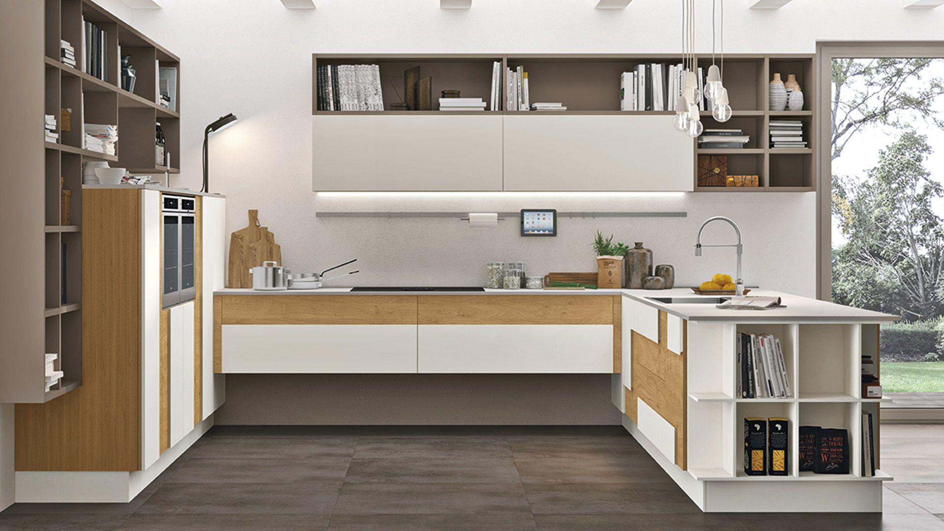 Cucine Open Space Moderne creativa - cucine moderne - cucine lube | Кухня открытого