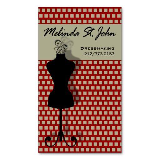 Dressmaker mannequin sewing fashion designer business card card dressmaker mannequin sewing fashion designer business card flashek Gallery