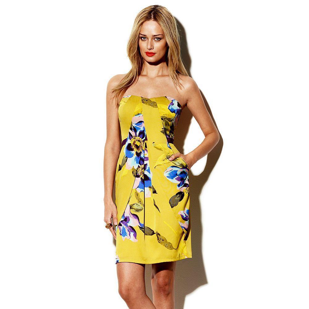 For A Wedding Short Dresses Casual Strapless Floral Dress Floral Dress Summer [ 1000 x 1000 Pixel ]