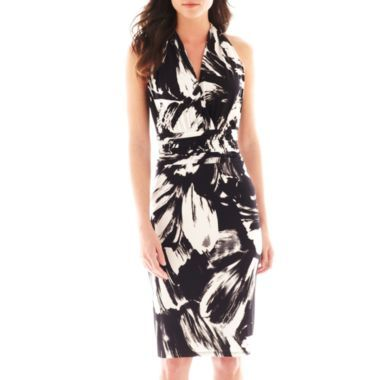 20532d73 Black Label by Evan-Picone Sleeveless V-Neck Print Dress found at @JCPenney