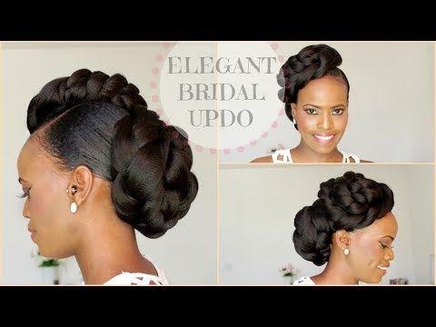 Braidless Crochet No Cornrows Curly Crochet Faux Hawk Tutorial Natural Hair Updo Tastep Natural Hair Styles Natural Hair Updo Natural Wedding Hairstyles