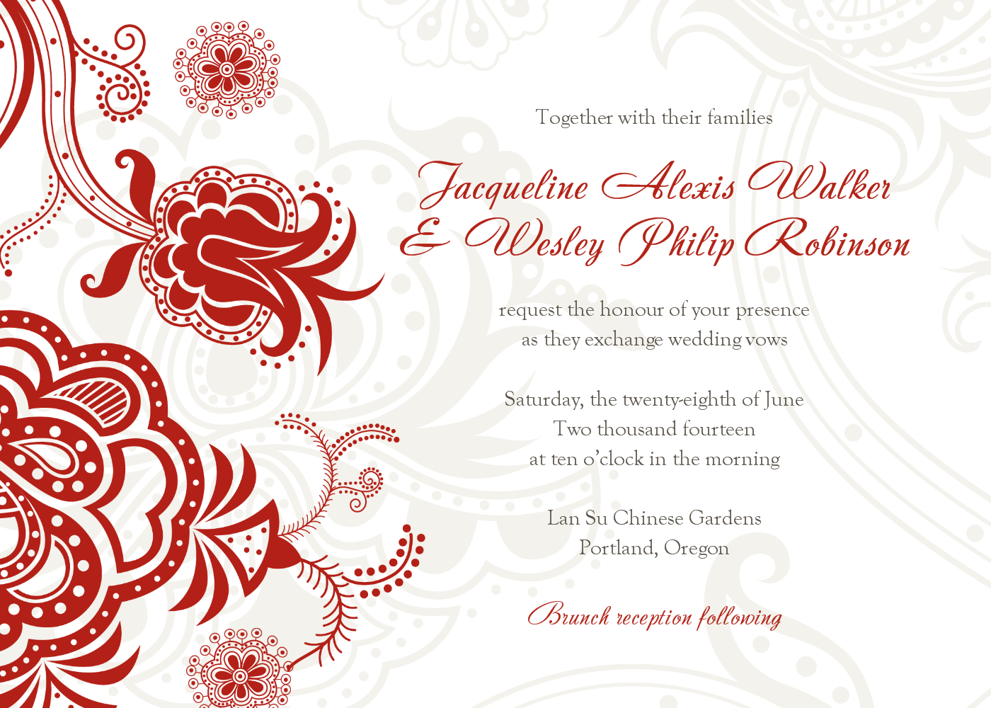 Free Printable Wedding Invations Free Printable Wedding Invitation