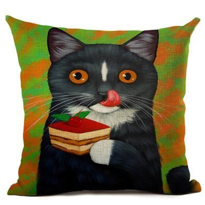 Cats Love Dessert Cushion Covers Cats Symbols Muse Pinterest