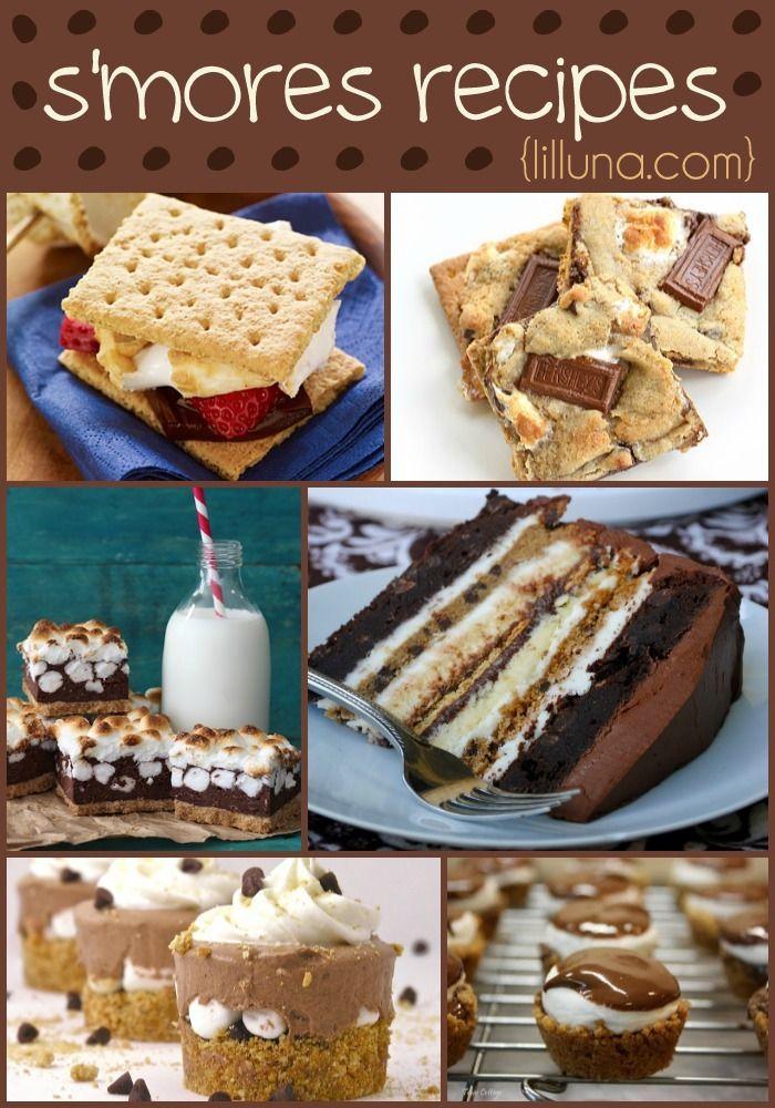 15 S'mores Recipes including smores cake, bars, pies, cookies and more!! { lilluna.com }
