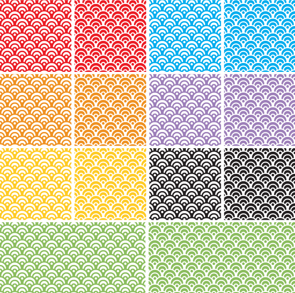 Dragon Scales Seamless Pattern Swatch for Adobe Illustrator