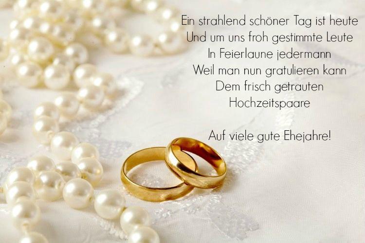 Originelle Hochzeitswünsche für das Brautpaar und weise ...