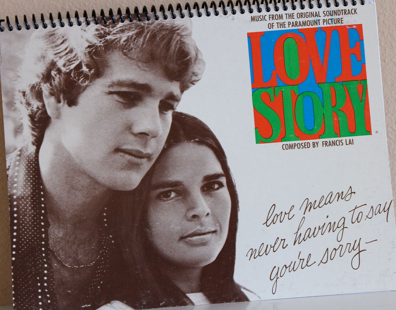 Love Story - Recycled Record Album Journal - Sketchbook - Journal with Blank Pages
