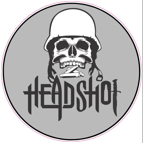Head Shot Skull Sticker Skull Sticker Custom Stickers Stickers