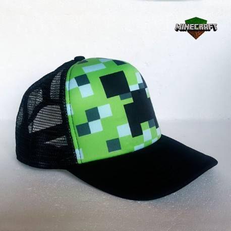 Gorra Minecraft Creeper Pixelado  42a73fa20f5