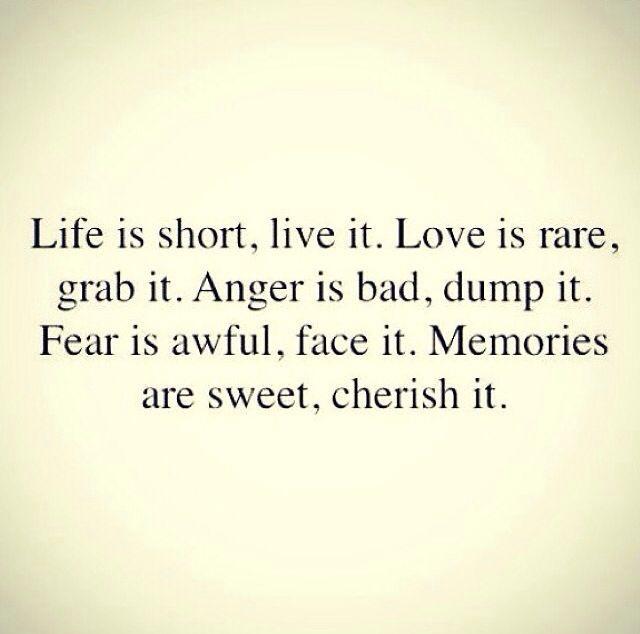 La vie est courte...