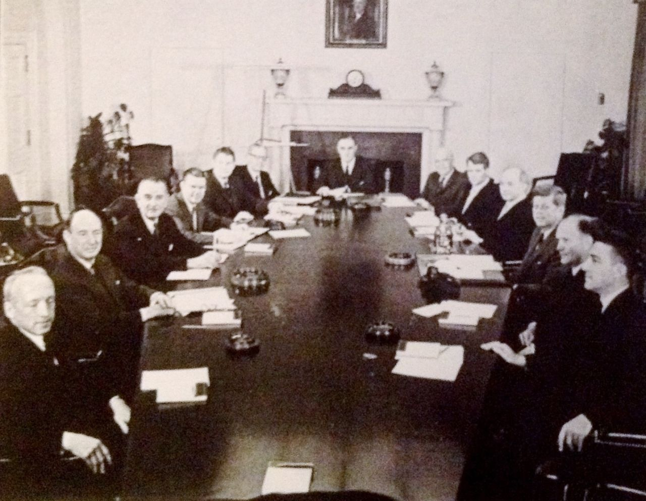 JFK's first Cabinet meeting,1961 | Pictures of america ...
