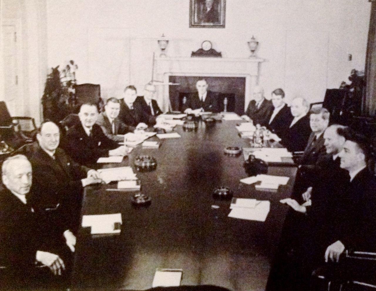 JFK's first Cabinet meeting,1961 | Jfk | Pinterest | John kennedy