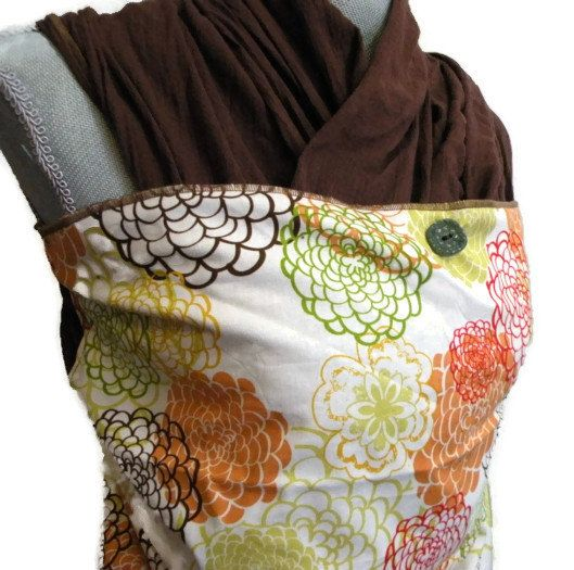 Baby Sling Woven Wrap Carrier Brown Gauze with by AGraffDesigns, $46.00