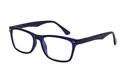 a533cf07a9 TBOC® Gafas de Lectura Presbicia Vista Cansada – Graduadas +1.00 Dioptrías  Montura de Pasta Azul de Diseño Moda para Hombre y Mujer Unisex con Lentes  de ...