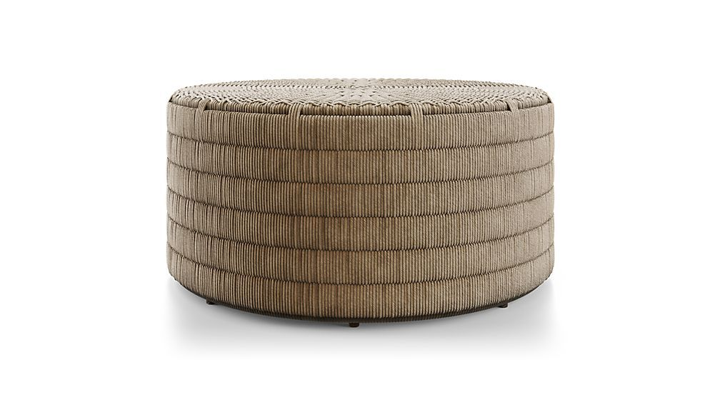 Madura Woven Outdoor Coffee Table Reviews Crate And Barrel