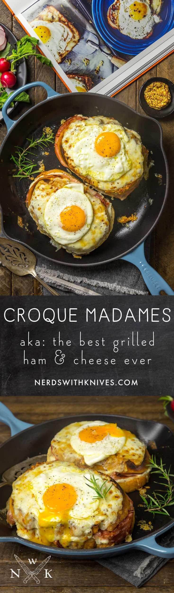Croquemadames recipe grilled ham cheese food