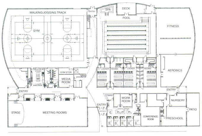 Community center plan plan pinterest sport hall sports complex and architecture plan for Sports complex planning design